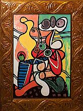 Pablo Picasso-Ltd Ed Giclee Still Life with Pedestal