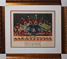Salvador Dali Diners with Gala Original Lithograph