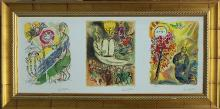 Marc Chagall-Limited Edition Giclee-Exodus Triptych