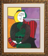Pablo Picasso-Ltd Edition-Woman in the Red Arm Chair