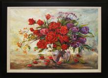Arina-Roses & Tulips Mixed Media Original