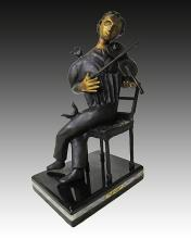 Marc Chagall The Violinist Bronze Sculpture