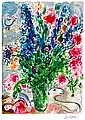 Marc Chagall Limited Edition Giclee Les Lupins Bleu