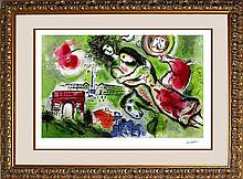Marc Chagall Ltd Ed Lithograph Romeo and Juliet