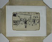 Ludovic Rodo Pissaro Original Illustration done in 1930. Original pen and ink