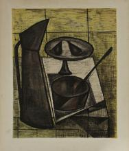 Bernard Buffet StillLife Original Lithograph and mixed media
