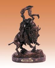Frederic Remington Buffalo Horse Bronze Sculpture