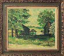 Vintage Original Oil by E.K.