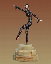 Chiparus Bronze Sculpture Les Girls Single Dancer