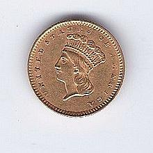 1857 $1 Gold US Coin
