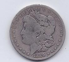 1889 $1 Morgan Silver Dollar