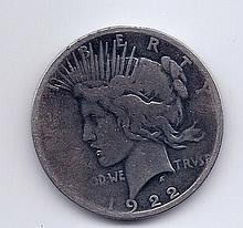 1922 $1 Peace Silver Dollar