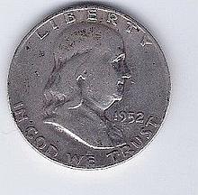 1952 50 Cent Silver Franklin Silver Half