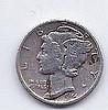 1944 10 Cent Silver Mercury Dime