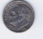 1952 10 Cent Silver Roosevelt Dime