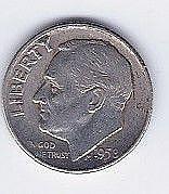 1958 10 Cent Silver Roosevelt Dime