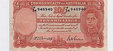$10 Currency Australian Shillings