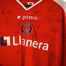 A Group of Charlton Athletic Football memorabilia