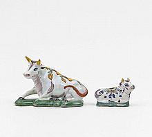 Zwei lagernde Kühe