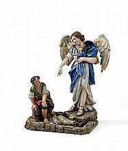 SÜDDEUTSCH 18./19.Jh. Tobias mit dem Engel.