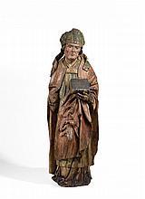 SCHWÄBISCH um 1500 Heiliger Bischof. Weichholz.