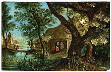 FLÄMISCHER MEISTER 1.H.17.Jh. Flusslandschaft mit