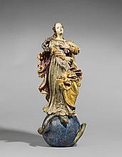 DEUTSCHER MEISTER Um 1750 Maria Immaculata.