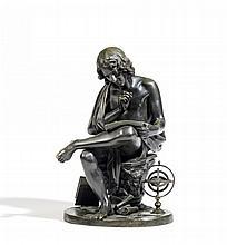 FRANZÖSISCH 1. H. 19.Jh. Der Astronom. Bronze.
