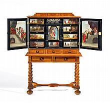 Barock Kabinett mit Allegorien auf gute und schlechte Ratgeber