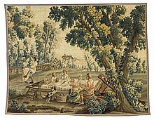 Tapisserie-Fragment aus der Serie Ländliche Freuden Der Tanz