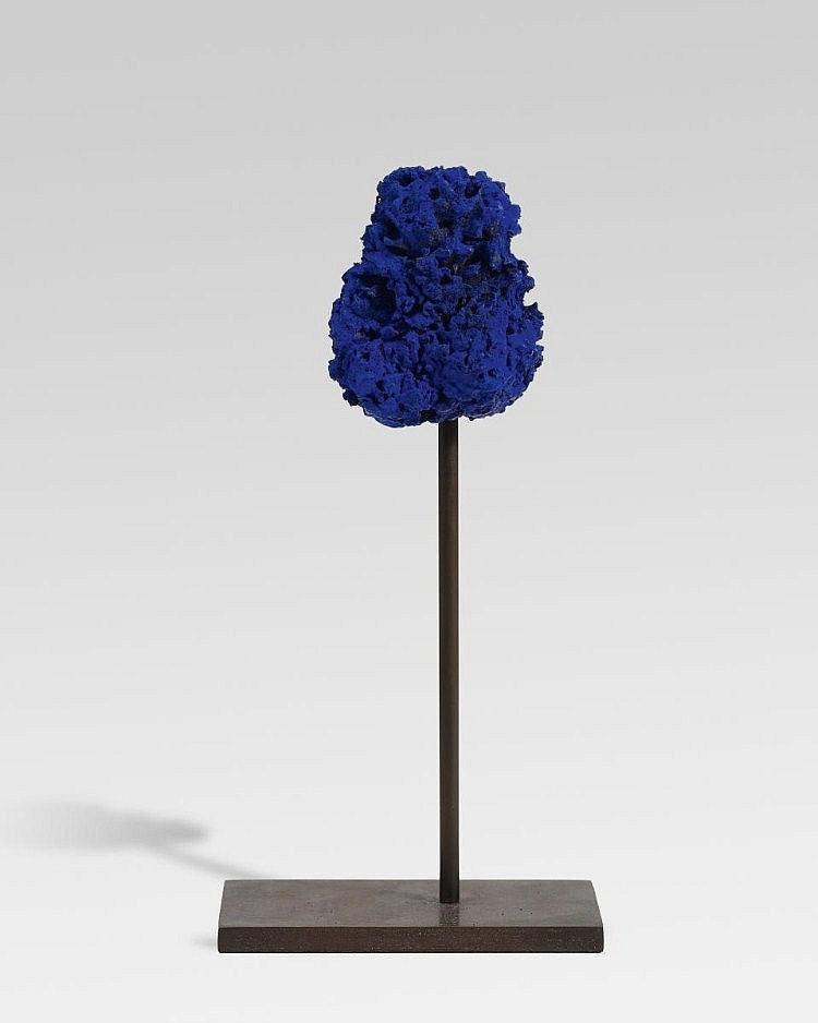 Klein, Yves 1928 Nizza - 1962 Eponge bleue SE 253.