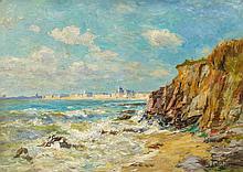 PETITJEAN, EDMOND MARIE - 1844 Neufchateau - 1925 Paris - On the Atlantic Coast near La Rochelle.