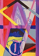 HORNS, BENJAMIN Thomas. 2013. Öl und Farbe auf Leinwand. 61 x 43cm.