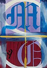 HORNS, BENJAMIN Thomas. 2013. Öl und Farbe auf Leinwand. 61 x 45,7cm.