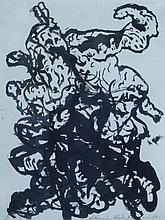 HÖCKELMANN, ANTONIUS 1937 Oelde - 2000 Köln Ohne Titel. 1963. Tus