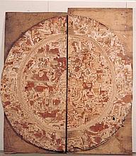 LÜCKWALD, RAIMUND VON Ohne Titel (2-teilig) (großer Wappenteller). 198