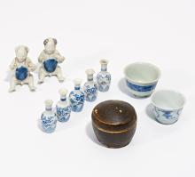 TEN PORCELAINS FROM CARGO FINDS.