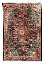 Tabriz. - Third Quarter 20th Century. 300 x 202 cm. Condition C. (Damaged side, Partially faded).