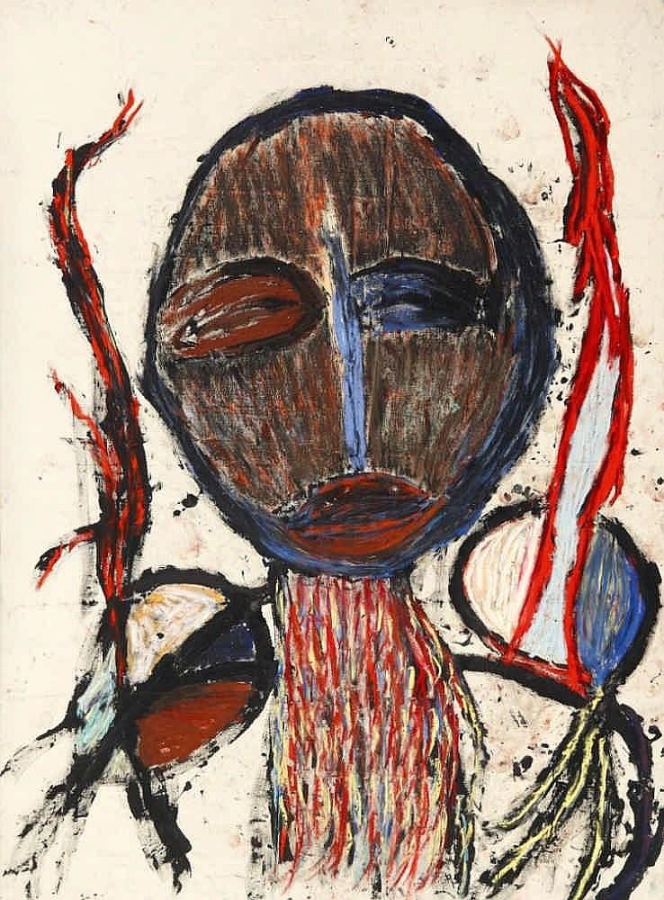 ASHER, DAN 1947 Cleveland - 2009 Ohne Titel. 1984. Mischtechnik auf Leinwand. 205 x 150cm. Signiert und datiert verso auf Leinwand oben rechts: Dan Asher '84. Atelierleiste.