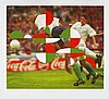 OROZCO, GABRIEL 1962 Xalapa Blindside Run. Aus: FIFA World Cup Brazil - Official Art Print Edition. 1996/2014. Pigmentdruck auf Japanese Watercolor Paper. 85,5 x 99,5cm (102 x 112cm). Signiert und nummeriert. contemporary editions, Berlin (Hrsg.).