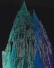 WARHOL, ANDY 1928 Pittsburgh - 1987 New York Cologne Cathedral.1985. Colour serigraph and bort on Lenox museum board. 100 x 80cm. Signed. Hermann Wünsche, Bonn/New York (ed.). Framed. - Surface abrasions in the black print area. Minor crease in the
