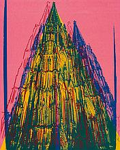 WARHOL, ANDY 1928 Pittsburgh - 1987 New York Cologne Cathedral.1985. Colour serigraph on Lenox museum board. 100 x 80cm. Signed. Hermann Wünsche, Bonn/New York (ed.). Framed. - One minimal scratch (ca. 10cm) in the lower right sheet area (due to