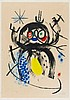 MIRÓ, JOAN 1893 Montroig - 1983 Calamajor/ Majorca L'automobiliste à moustaches.1970. Aquatinta and carborundum on vellum. 74,5 x 63cm (89,5 x 63cm). Signed and numbered. Maeght, Paris (Ed.). Number 51/75. Framed. - Sheet light-stained in the mat