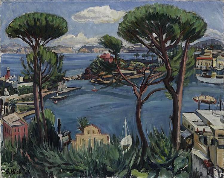 Haniel, Gerhard, von 1888 Saarburg/Lorraine - 1954 Munich Harbour of  Ischia.