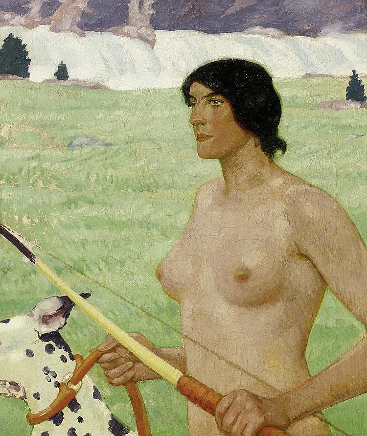 Erler, Fritz1868 Frankenstein/Silesia - 1940 Munich The hunting goddess Diana.