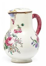 POTTERY POT AND LID WITH FLEURS FINES