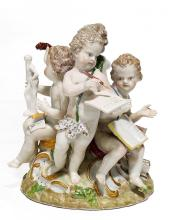 PORCELAIN FIGURE OF THE ALLEGORY