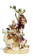 LARGE PORCELAIN GROUP 'THE DANCE'