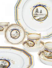 63 PIECES OF A DINNER SERVICE