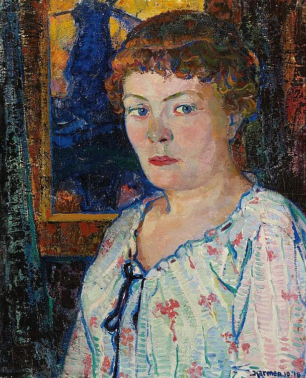 Meurs, Harmen Hermanus  1891 Wageningen - 1964 Ermelo    Portrait of a young lady.